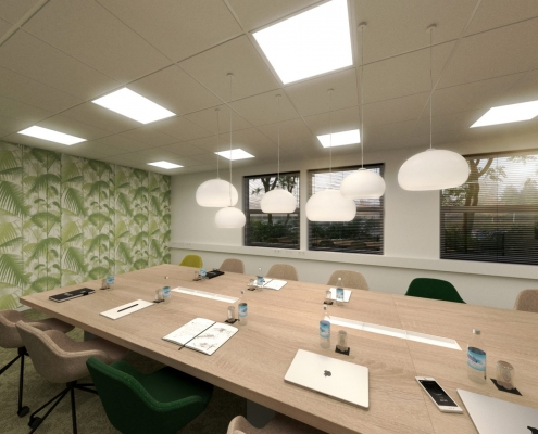 Lichtplan kantoorinrichting
