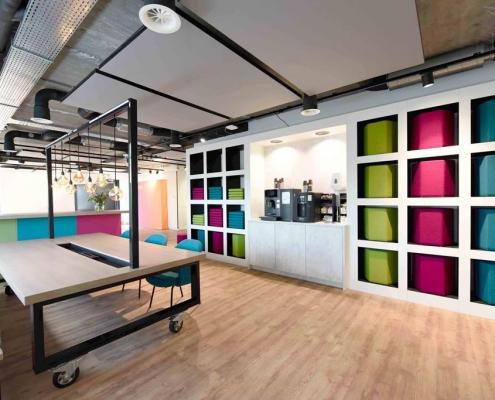interieurontwerp kantoor, interieurontwerp Utrecht, kantoor inrichten, presentatieruimte